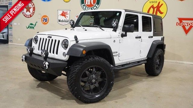 2016 Jeep Wrangler Unlimited Sport 4X4 AUTO,LIFTED,HTD LTH,LED'S,FUEL WHLS,9K!