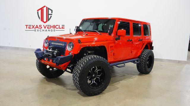2016 Jeep Wrangler Unlimited Sahara 4X4 LIFTED,BUMPERS,FUEL WHLS,72K
