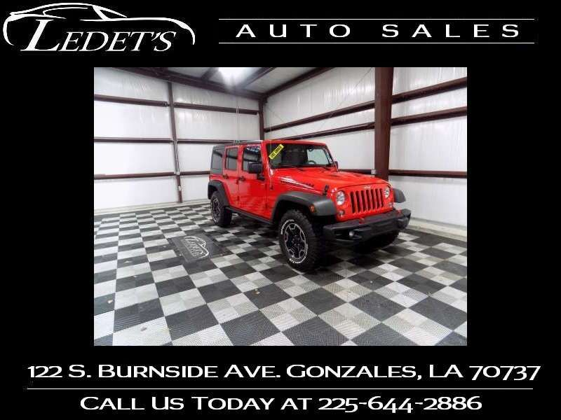 2016 Jeep Wrangler Unlimited Rubicon Hard Rock - Ledet's Auto Sales Gonzales_state_zip in Gonzales Louisiana