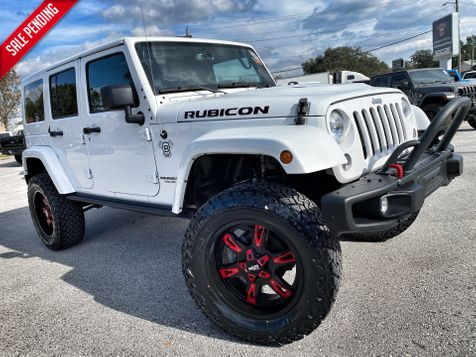 2016 Jeep Wrangler Unlimited RUBICON HARD ROCK LIFTED LEATHER NAV FOX SHOCKS in Plant City, Florida