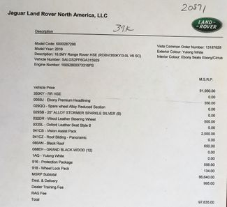 2016 Land Rover Range Rover V6 Supercharged HSE in Alexandria VA