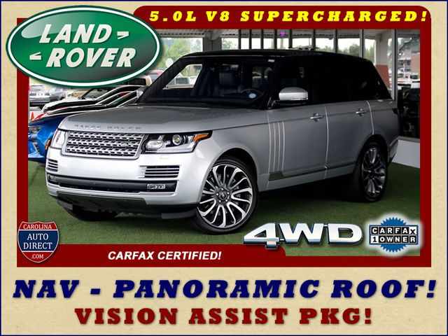 2016 Land Rover Range Rover Supercharged 4WD - VISION ASSIST PACK - PANO ROOF! Mooresville , NC 0