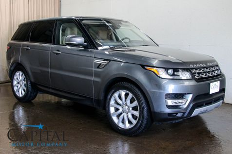 2016 Land Rover Range Rover Sport HSE 4x4 w/Navigation, Heated / Cooled Seats, Panoramic Roof & 20