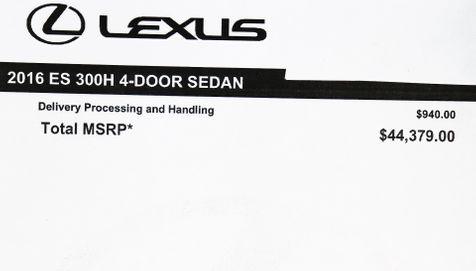 2016 Lexus ES 300h Hybrid in Alexandria, VA