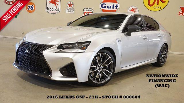 2016 Lexus GS F MSRP 87K,HUD,ROOF,NAV,MARK LEVINSON,27K,WE FINANCE in Carrollton, TX 75006