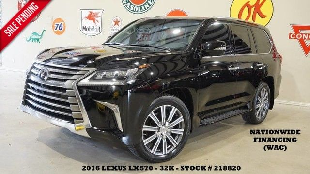 2016 Lexus LX 570 HUD,ROOF,NAV,360 CAM,REAR DVD,MARK LEVINSON,21'...