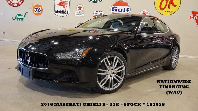 2016 Maserati Ghibli S MSRP 87K,ROOF,NAV,BACK-UP,HTD LTH,20'S,27K
