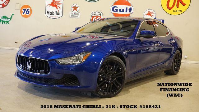 2016 Maserati Ghibli S Q4 MSRP 87K,ROOF,NAV,BACK-UP,HTD LTH,20'S,21K in Carrollton, TX 75006