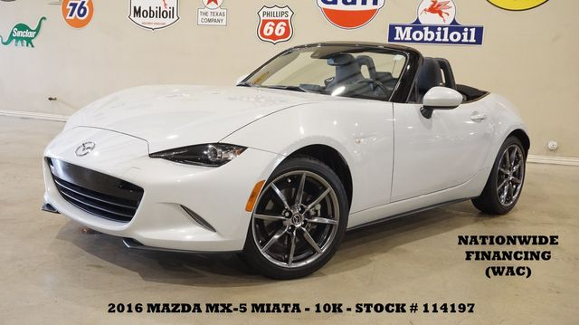 2016 Mazda MX-5 Miata Grand Touring Conv. 6 SPD,HEATED LEATHER,BOSE,10K