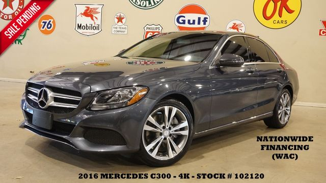 2016 Mercedes-Benz C 300 Sedan MSRP 47K,PANO ROOF,NAV,HTD LTH,4K