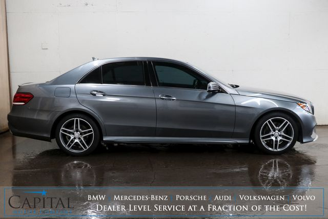 2016 Mercedes-Benz E350 Sport 4MATIC AWD w/Nav, Moonroof, Heated Seats, Harman/Kardon Audio & AMG Wheel Pkg in Eau Claire, Wisconsin 54703