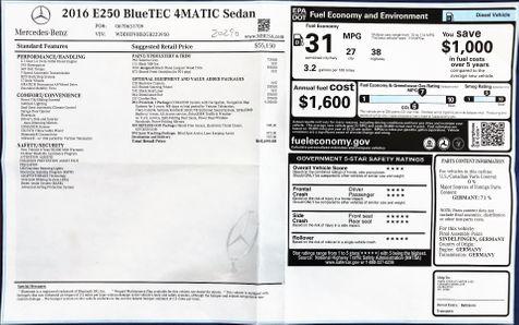2016 Mercedes-Benz E-Class E250 BlueTEC 4Matic Sport PKG in Alexandria, VA
