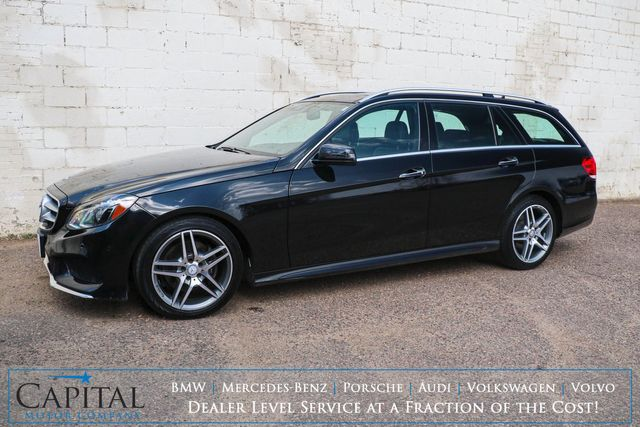 """2016 Mercedes-Benz E350 4MATIC AWD Sport-Wagon w/3rd Row Seats, Nav, Panoramic Roof, LED Lights and 18"""" AMG Wheels"""