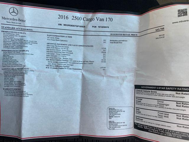 2016 Mercedes-Benz Sprinter Cargo Vans EXT Chicago, Illinois 13