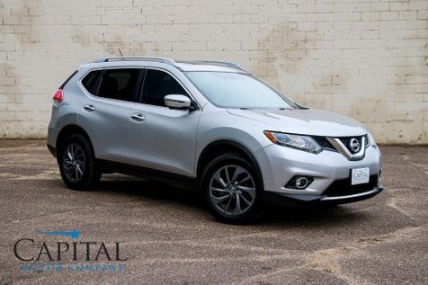 2016 Nissan Rogue SL AWD w/Navigation, Backup Camera,  Heated Seats, Panoramic Moonroof and Tow Hitch in Eau Claire