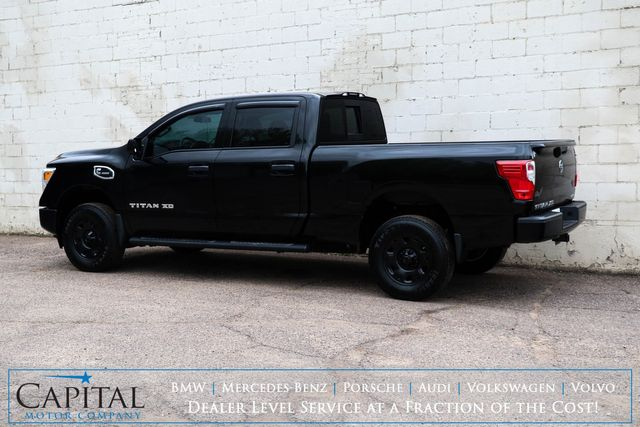 2016 Nissan Titan XD Crew Cab 4x4 w/Cummins Turbo Diesel, Blacked Out Wheels, Bluetooth Audio & Tow Pkg in Eau Claire, Wisconsin 54703