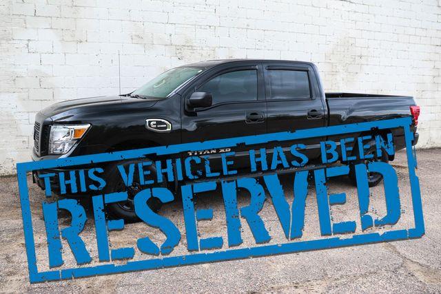 2016 Nissan Titan XD Crew Cab 4x4 w/Cummins Turbo Diesel, Blacked Out Wheels, Bluetooth Audio & Tow Pkg