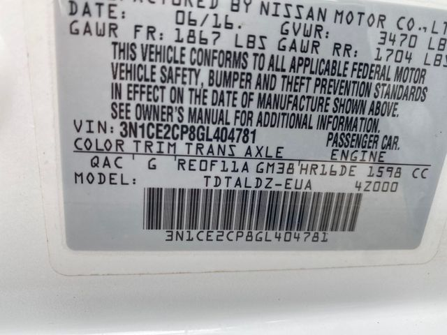 2016 Nissan Versa Note SV Madison, NC 39