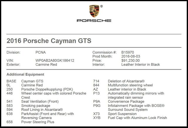 2016 Porsche Cayman in Carrollton TX