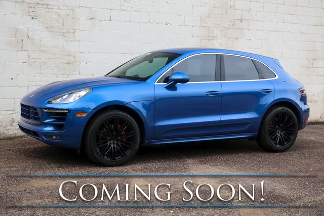 """2016 Porsche Macan Turbo AWD w/Sport Chrono Pkg, Nav, Heated/Cooled Seats, Panoramic Roof & 21"""" Wheels in Eau Claire, Wisconsin 54703"""