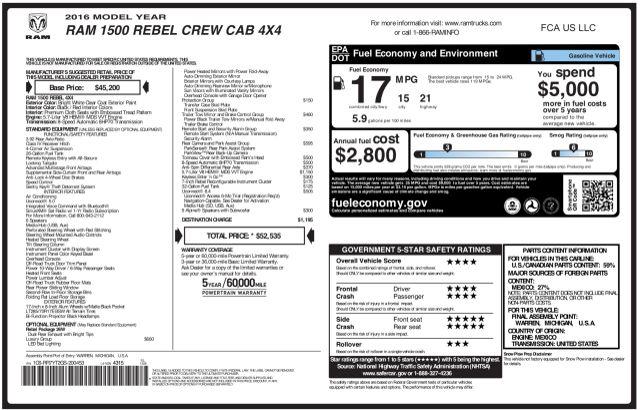 2016 Ram 1500 Rebel 4X4 in Addison, Texas 75001