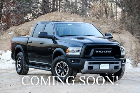 2016 Ram 1500 Rebel 4x4 Crew Cab with 5.7L HEMI V8, Heated Seats, Alpine Audio & Off Road Suspension in Eau Claire