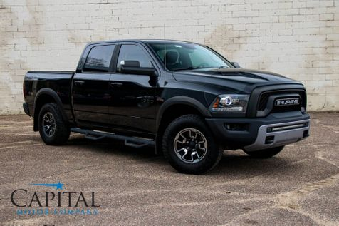 2016 Ram 1500 Rebel Crew Cab 4x4 w/HEMI V8, Off-Road Suspension, Heated Seats, Remote Start, Moonroof & Tow Pkg in Eau Claire