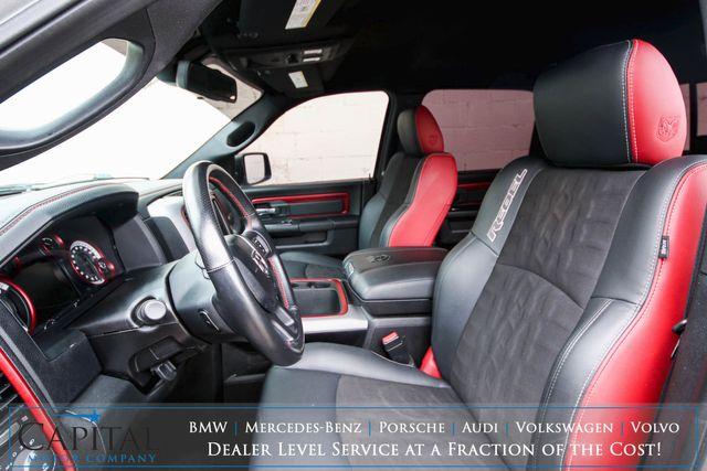 2016 Ram 1500 Rebel Crew Cab 4x4 w/Nav, Heated Seats, Alpine Audio, Rebel 2-Tone Interior Pkg in Eau Claire, Wisconsin 54703