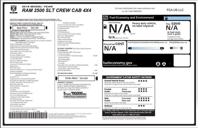 2016 Ram 2500 SLT SRW 4x4 in Addison, Texas 75001