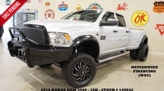 2016 Dodge Ram 3500 DRW Tradesman 4X4 LIFTED,RANCH BUMPERS,FUEL WHLS,30K! in Carrollton TX, 75006