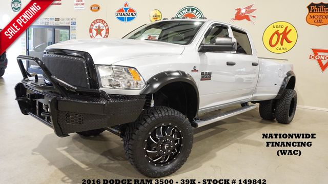 2016 Dodge Ram 3500 DRW Tradesman 4X4 LIFTED,RANCH BUMPERS,FUEL WHLS,30K!
