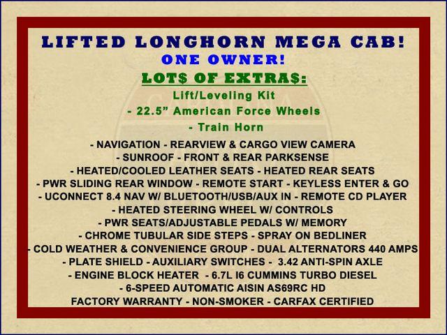 "2016 Ram 3500 Longhorn Mega Cab 4x4 - LIFTED - 22.5"" WHEELS! Mooresville , NC 1"