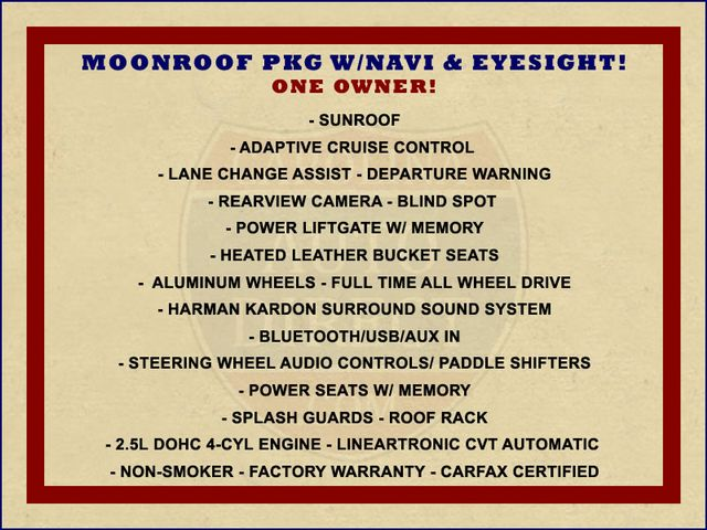 2016 Subaru Outback 2.5i Limited AWD - MOONROOF PKG W/NAVI & EYESIGHT! Mooresville , NC 1