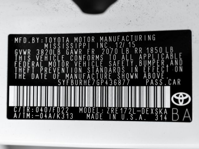 2016 Toyota Corolla S Plus Burbank, CA 26