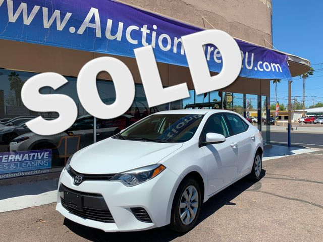 2016 Toyota Corolla LE 5 YEAR/60,000 FACTORY POWERTRAIN WARRANTY Mesa, Arizona