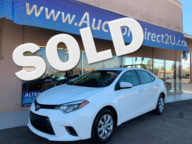 2016 Toyota Corolla LE 5 YEAR/60,000 MILE FACTORY POWERTRAIN WARRANTY Mesa, Arizona