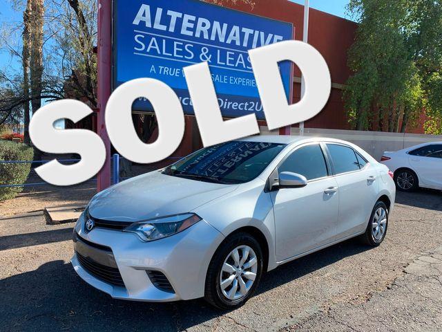 2016 Toyota Corolla LE  5 YEAR/60,000 MILE FACTORY POWERTRAIN WARRANTY Mesa, Arizona