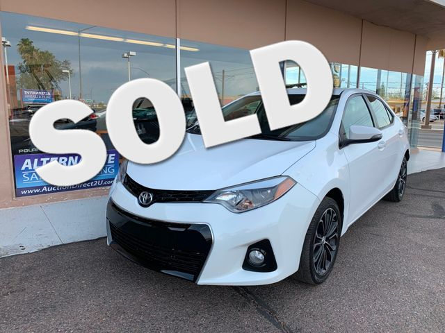 2016 Toyota Corolla S 3 MONTH/3,000 MILE NATIONAL POWERTRAIN WARRANTY Mesa, Arizona