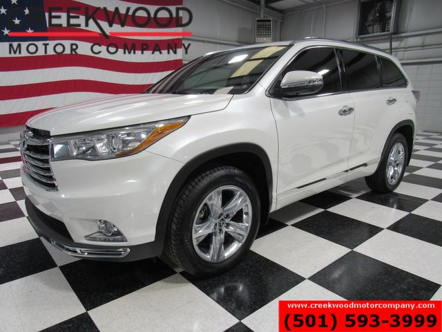 2016 Toyota Highlander Limited FWD Pearl White Chrome Nav Roof Financing in Searcy, AR 72143