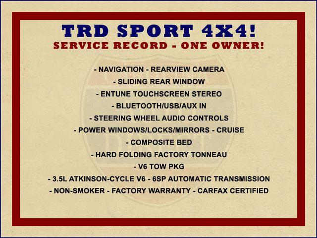 2016 Toyota Tacoma TRD Sport Double Cab 4x4- NAVIGATION- HARD TONNEAU Mooresville , NC 1