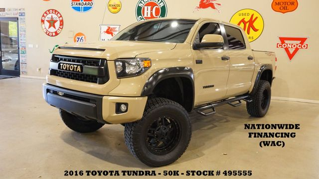 2016 Toyota Tundra TRD Pro 4X4 LIFTED,NAV,BACK-UP,LTH,BLK 20'S,50K