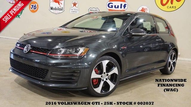 2016 Volkswagen Golf GTI SE w/Performance Pkg ROOF,BACK-UP,HTD LTH,25K!