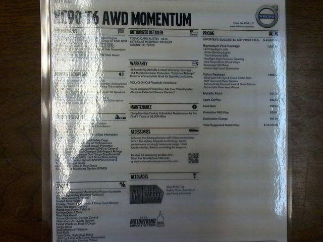 2016 Volvo XC90 T6 Momentum San Antonio, Texas 47