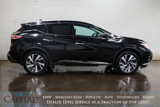 """2017 (2017.5) Nissan Murano Platinum AWD w/Tech Pkg, Panoramic Moonroof, Heated/Cooled Seats & 20"""" Rims in Eau Claire, Wisconsin 54703"""