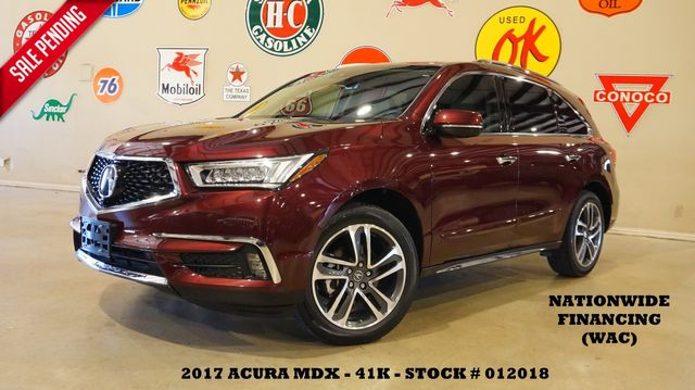2017 Acura MDX w/Advance Pkg ROOF,NAV,360 CAM,HTD/COOL LTH,41K