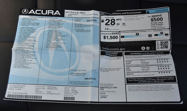 2017 Acura TLX w/Technology Pkg Waterbury, Connecticut 40