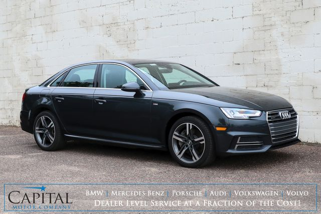 2017 Audi A4 Premium Plus S-LINE Quattro AWD with Nav, Backup Cam, Heated Seats and B&O Sound System