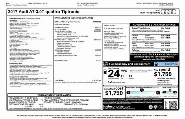 2017 Audi A7 Premium Plus Madison, NC 35