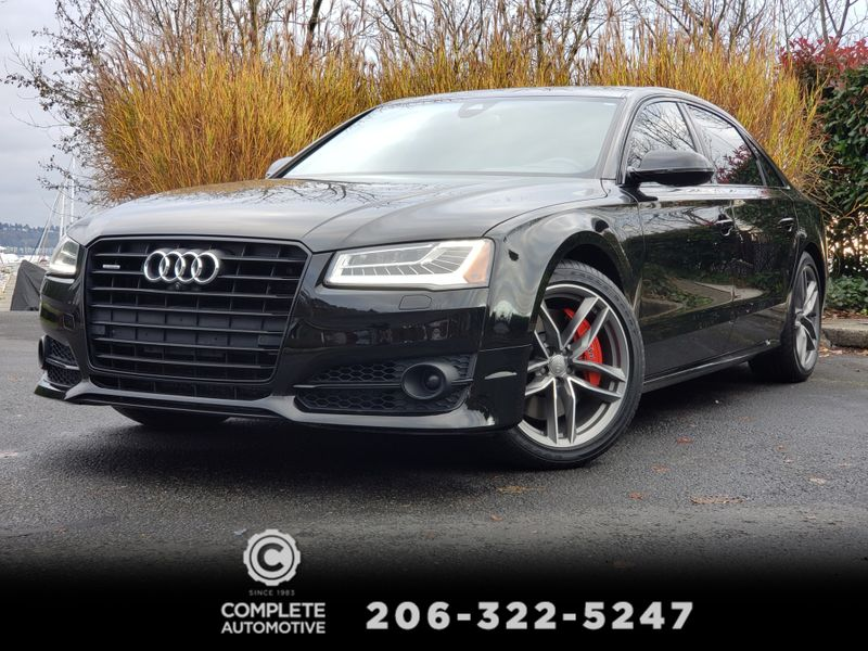 2017 Audi A8 L 40T Quattro Sport Night Vision Driving Assist Dynamic Black Optic  city Washington  Complete Automotive  in Seattle, Washington