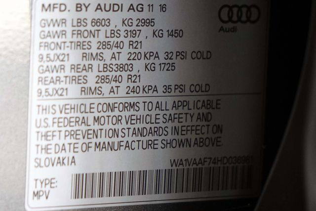 2017 Audi Q7 PRESTIGE * Driver Assist * HEADS UP * 21's * CWP Plano, Texas 57